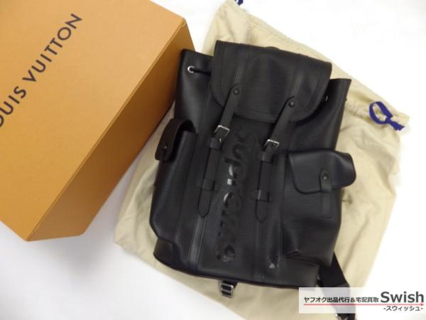 Z121■LouisVuitton ルイヴィトン ×Supreme シュプリーム ■新品 christopher PM backpack クリストファー バックパック バック 黒■