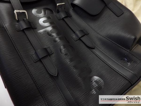 Z121■LouisVuitton ルイヴィトン ×Supreme シュプリーム ■新品 christopher PM backpack クリストファー バックパック バック 黒■_画像2