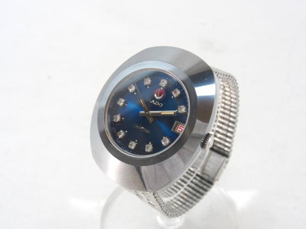 【本物】ラドー 腕時計 ダイアスター 青文字盤 自動巻き AT 可動品