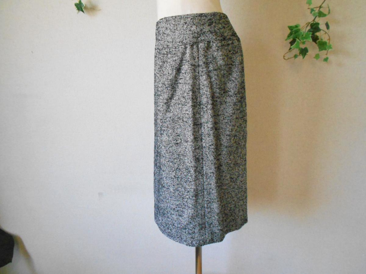 クレージュ courreges 秋冬向き ロゴ マーク 付き シルク 混 膝丈 スカート_画像5