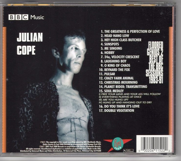 Julian Cope / Floored Genius 2/The Best Of The BBC Sessions_画像2