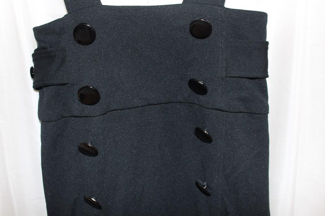 イタリア製 レディースジャンパースカート ブラック Sサイズ 新品_画像2