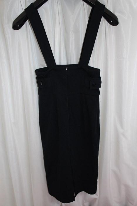 イタリア製 レディースジャンパースカート ブラック Sサイズ 新品_画像3