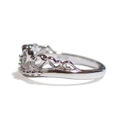 5月の誕生石 エメラルド シルバーアクセサリー 純銀 シルバー925 リング 指輪 ティアラ レディース 誕生日 プレゼント ギフト 贈り物 BOX付_画像2