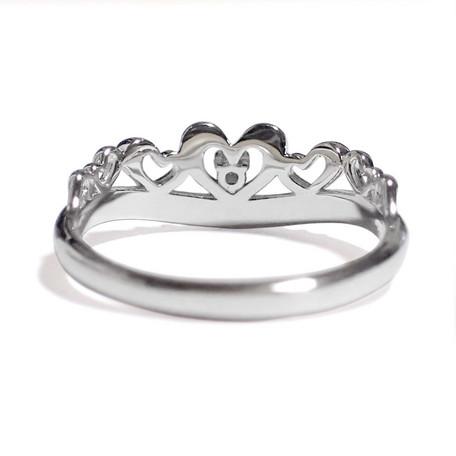 5月の誕生石 エメラルド シルバーアクセサリー 純銀 シルバー925 リング 指輪 ティアラ レディース 誕生日 プレゼント ギフト 贈り物 BOX付_画像3