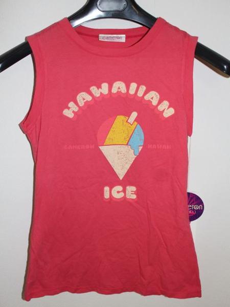 キャメロンハワイ Cameron Hawaii レディースノースリーブTシャツ Lサイズ NO1 新品_画像1