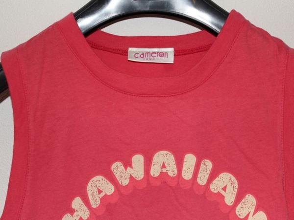 キャメロンハワイ Cameron Hawaii レディースノースリーブTシャツ Lサイズ NO1 新品_画像4