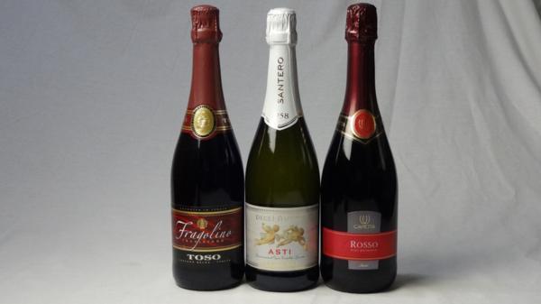イタリア甘口赤×白スパークリングワイン3本セット(_画像1