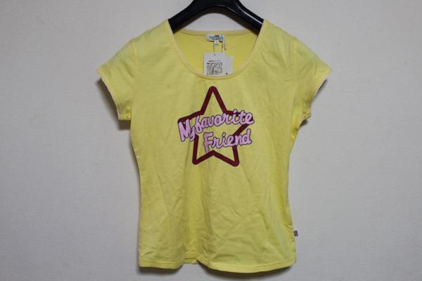 パシフィックコースト PACIFIC COAST レディース半袖Tシャツ イエロー Mサイズ アウトレット_画像1