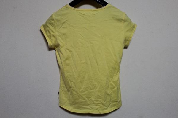 パシフィックコースト PACIFIC COAST レディース半袖Tシャツ イエロー Mサイズ アウトレット_画像4