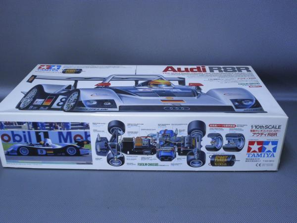 タミヤ製(ITEM 58247)1/10電動レーシングカー アウディーR8R (F103LMシャシー) 未組み立て品_画像2