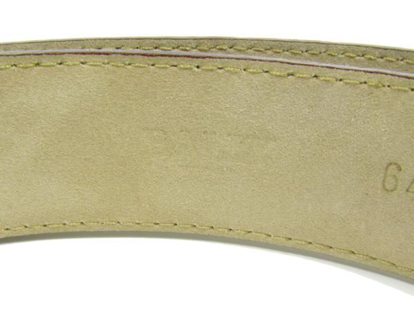 バリー BALLY 美品 クロコダイル ベルト エキゾチックレザー メンズ ゴールド金具_画像6