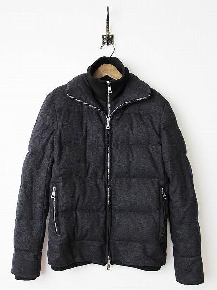 2015AW AKM Contemporary レイヤード ダウンジャケット L*チャコールグレー アウター メンズ