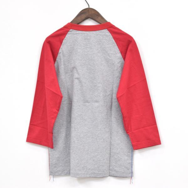 【福岡1周年記念】新品 限定 TMT ティーエムティー H/SL T-SHIRT 七分袖Tシャツ ラグランスリーブTシャツ レッド 赤 サイズ:L タグ付き_画像2