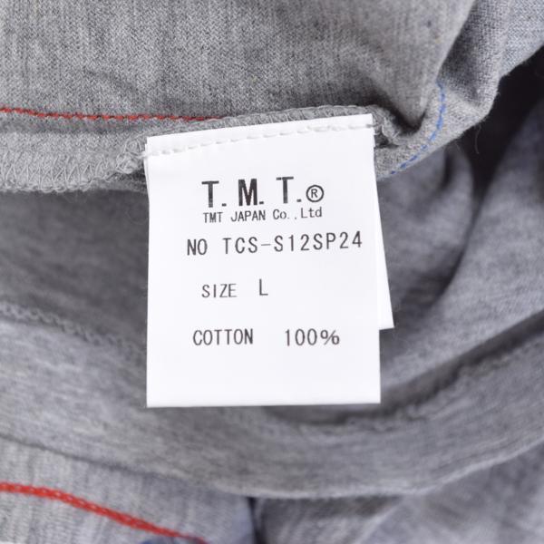 【福岡1周年記念】新品 限定 TMT ティーエムティー H/SL T-SHIRT 七分袖Tシャツ ラグランスリーブTシャツ レッド 赤 サイズ:L タグ付き_画像4