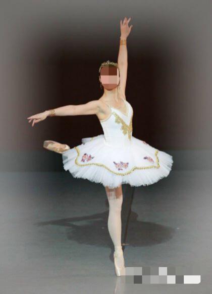 送料無料大人Lバレエ舞台衣装♪白いお姫様系♪9層チュチュ♪_画像1