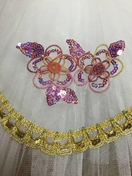 送料無料大人Lバレエ舞台衣装♪白いお姫様系♪9層チュチュ♪_画像3
