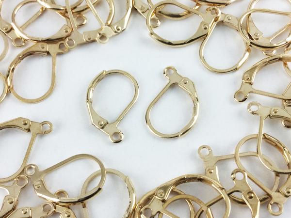 送料無料 フレンチ フック ピアス パーツ 40個 ゴールド KC 金 色 カン 付 アクセサリー ハンドメイド 素材 金具 アクセ (AP0262)