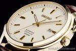 1円 セイコー 海外 キネティック SEIKO サファイアガラス 本革ベルト 100m防水 ゴールド 裏スケ 腕時計