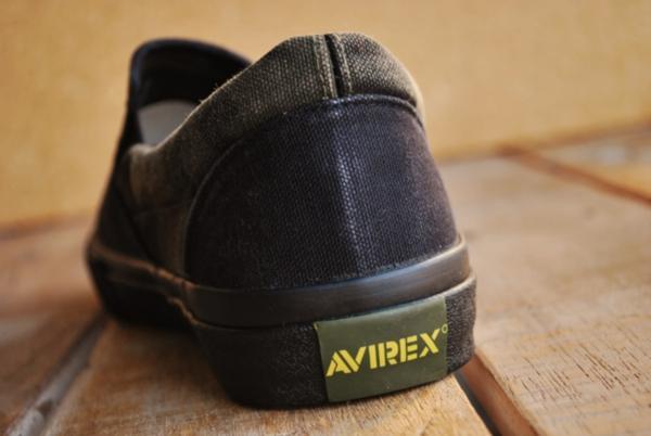 正規 AVIREX スニーカー スリッポン メンズ シューズ FREEDOM アビレックス フリーダム AV3522 ブラックカモ 26.0cm_画像6