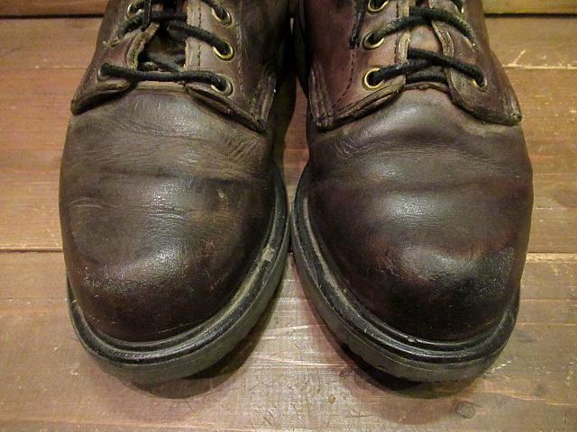 ビンテージ90's★RED WING 刺繍羽根タグ ライナー付きワークブーツ Size 7D★80'sレッドウイングメンズ靴バイカー古着卸_画像2