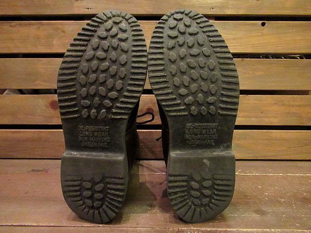 ビンテージ90's★RED WING 刺繍羽根タグ ライナー付きワークブーツ Size 7D★80'sレッドウイングメンズ靴バイカー古着卸_画像6