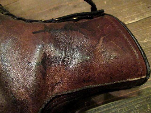 ビンテージ90's★RED WING 刺繍羽根タグ ライナー付きワークブーツ Size 7D★80'sレッドウイングメンズ靴バイカー古着卸_画像10