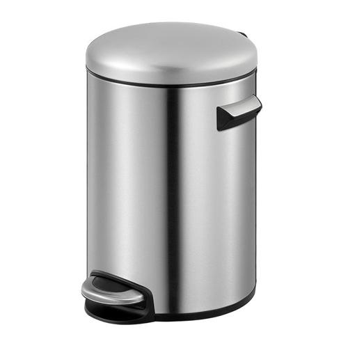 ゴミ箱 20L ふた付き ペダル式 丸型 筒型 ステンレス おしゃれ かっこいい 屑入れ ごみ箱 ダストボックス 1年保証 送料無料 EK9214-20L