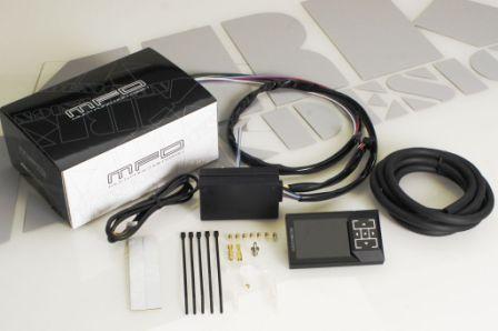 【OBDを使わない液晶メーター】ARK-DESIGN MFD ブースト計 バキューム計 水温計 スピード 車速 タコメーター 回転 A/F 日本製 独立動作_画像6