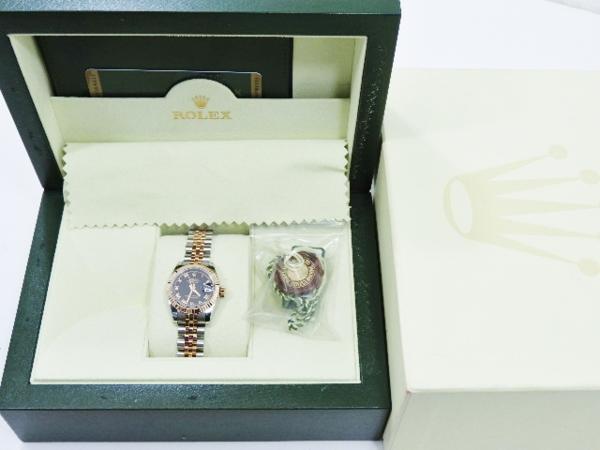 ロレックス 極美品 ROLEX デイトジャスト レディース 腕時計 179171 PG×SS M番 付属品有_画像10