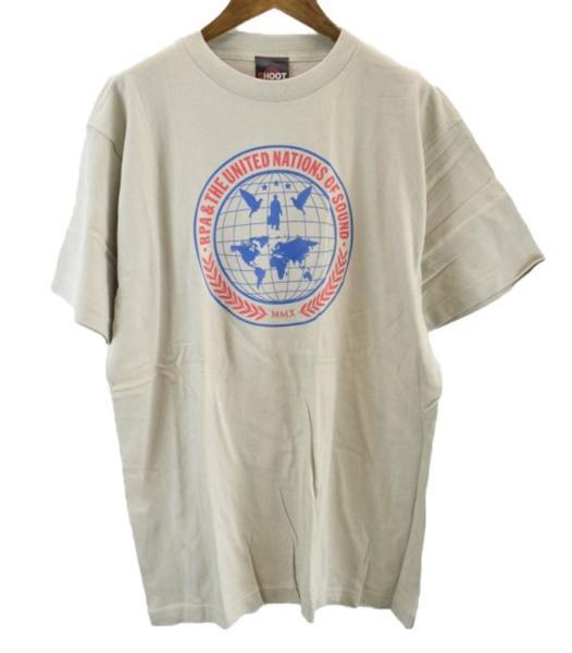 メール便可 未使用 SHOOT RPA&THE UNITED NATIONS OF SOUND Tシャツ L ベージュ系 #【BIG2nd大阪店】【170711】【メンズ】mts1780
