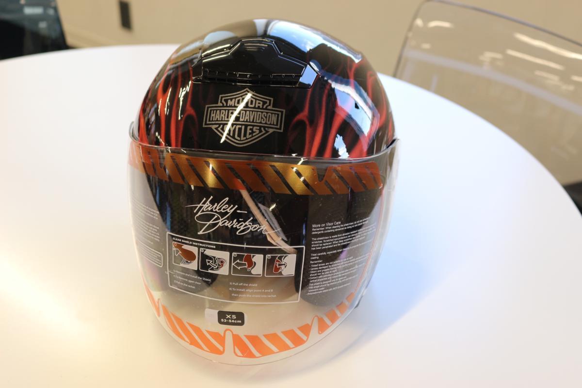 新品 未使用 ハーレーダビッドソン 98363-11VM メンズ 3/4 ヘルメット グロスブラックXS