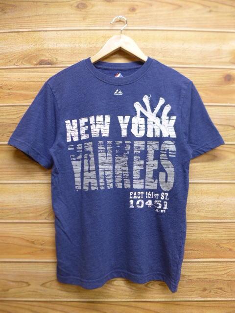 S★古着 中古 Tシャツ MLB ニューヨークヤンキース 紺 霜降り 16oct28 グッズの画像