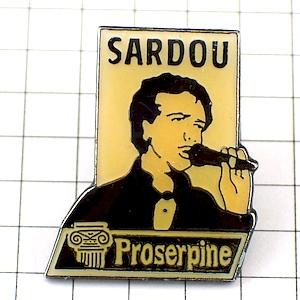 限定レア◆ピンバッジ◆ミッシェル・サルドゥー歌手シャンソン音楽ピンズフランス