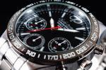 1円×3本 新品未使用 本物 正規品 CHARLES PERRIN シャルルペリン 世界限定 クロノグラフ 腕時計 BLACK×SILVER 黒×銀