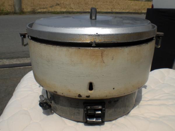 №34 炊飯器 厨房 業務用 ガス炊飯器 リンナイ RR-40S 8.0L 4升炊き 店舗 中古_画像1