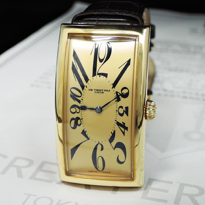 check out 8b684 31a8a TISSOT ティソ ヘリテージ クラシックプリンス T71.3.718.22 バナナウォッチ 手巻き メンズ 腕時計 未使用品