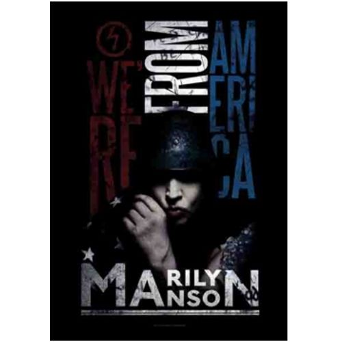 海外限定 公式 MARILYN MANSONマリリンマンソンG293 布ポスター