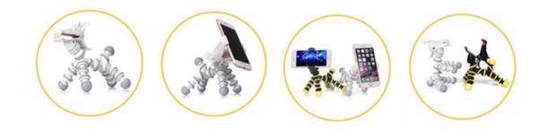MADMAX アニマル スマートフォン専用スタンド ブラック/イエロー/アクセサリー/アンドロイド デスクワーク/いろいろな場所・シーンに_画像3