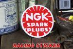 NGK Spark Plugs ロゴ風 丸形 ステッカー ◆ シール 点火プラグ メーカー 小 JLST20