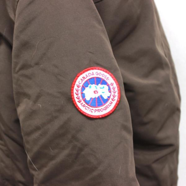 カナダグース CANADA GOOSE ジャンパー ダウンコート ファーフード付き ダウンジャケット メンズ S/P ブラウン_画像3