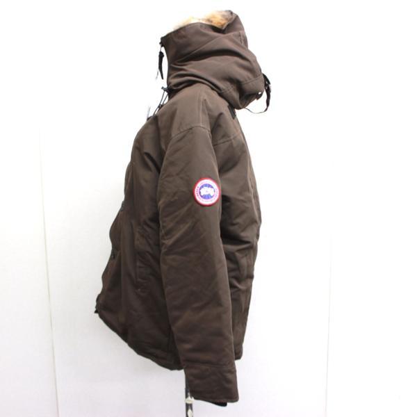 カナダグース CANADA GOOSE ジャンパー ダウンコート ファーフード付き ダウンジャケット メンズ S/P ブラウン_画像4
