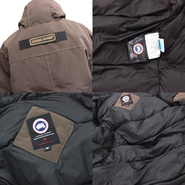 カナダグース CANADA GOOSE ジャンパー ダウンコート ファーフード付き ダウンジャケット メンズ S/P ブラウン_画像10