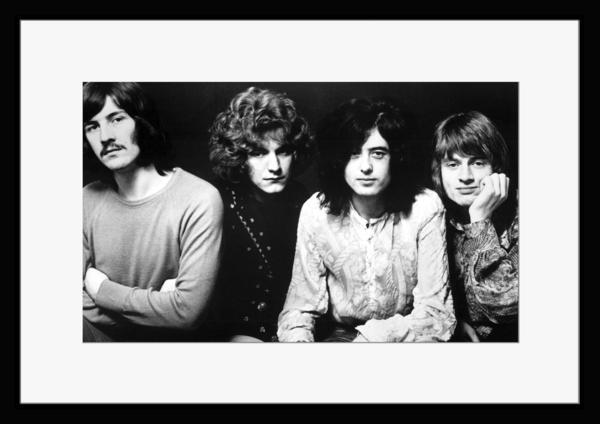 BW:UK人気ロックバンド/レッド・ツェッペリン/.Led Zeppelin/モノクロ写真フレーム-5