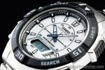 1円 カシオ 逆輸入 アナデジ 100m防水 ソーラー 新品 タイマー&アラーム 腕時計