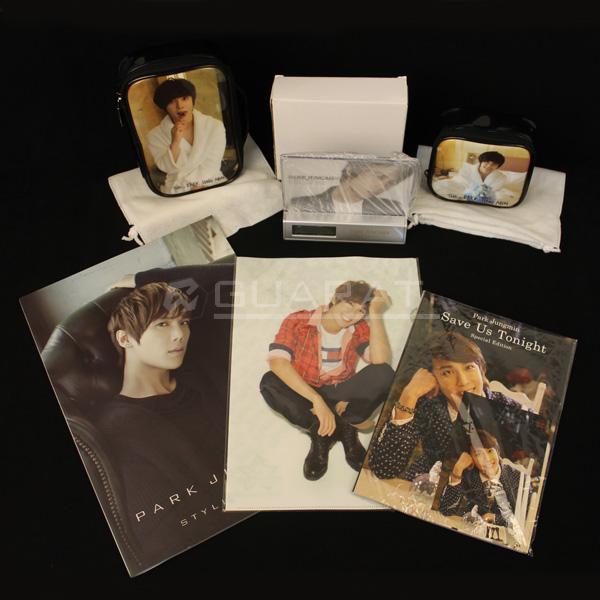 韓流 PARK JUNGMIN パク・ジョンミン DVD ポーチ クリアファイル 本 5点セット(USED品) 180-D81