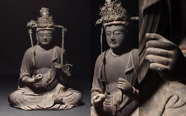 慶應◆南北朝時代 【雲慶】作 寄木造聖観音菩薩坐像 圧巻の美貌