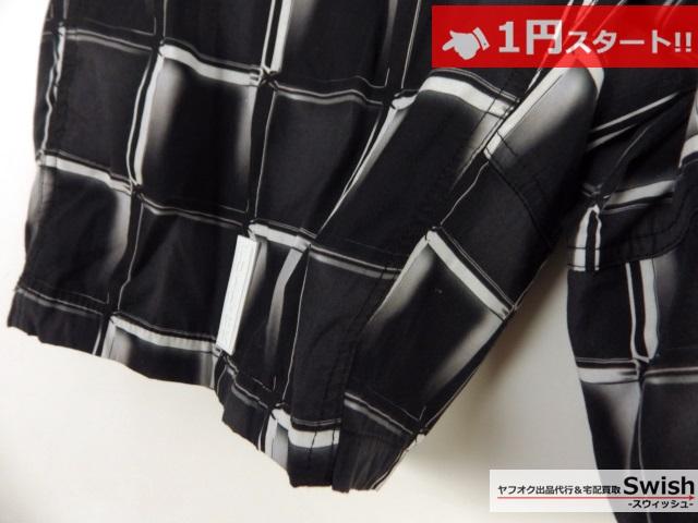 A377●FULL-BK●3D BLOCK CHECK SHORTS 格子柄 ショートパンツ L 黒●_画像3