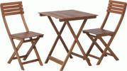 送料無料/ガーデン テーブル (テーブル&チェア2脚) 3点