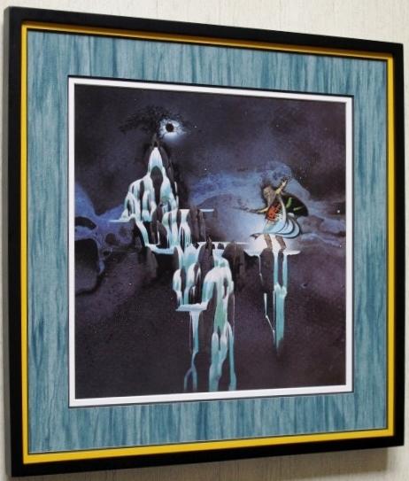 ユーライア・ヒープ/名盤 レコジャケ・ポスター額装/Uriah Heep/Demons & Wizards/悪魔と魔法使い/ガンボアート/Framed Roger Dean